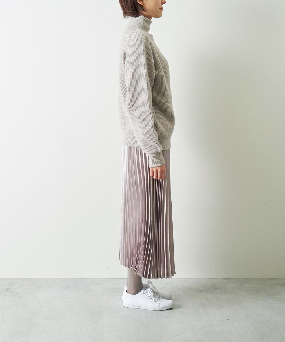 箔プリント アコーディオンプリーツスカート