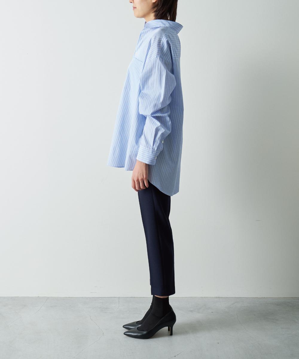 ルーズシルエットストライプシャツ