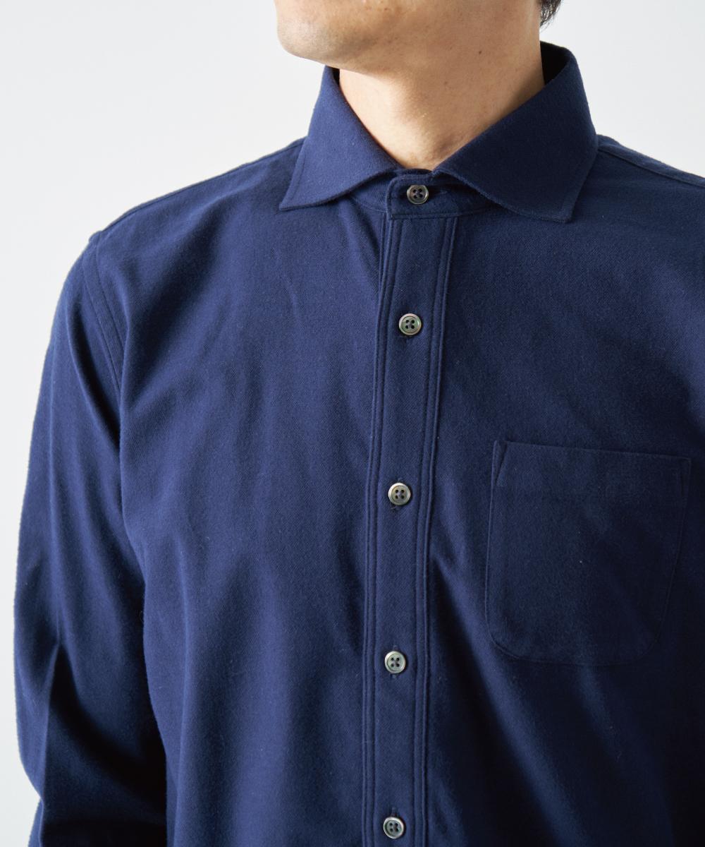 ネルセミワイドカラーシャツ